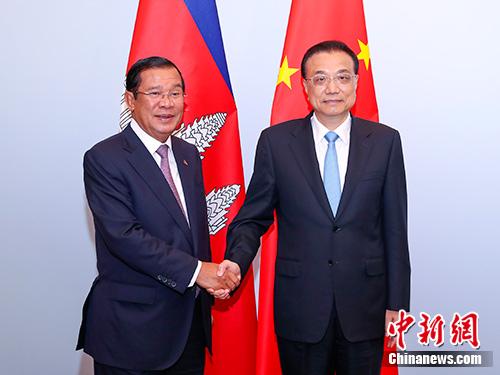 李克强会见柬埔寨首