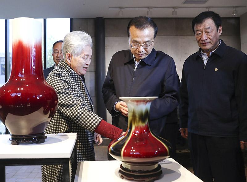李克强寄语景德镇瓷器:千年瓷都,打造成国际瓷都